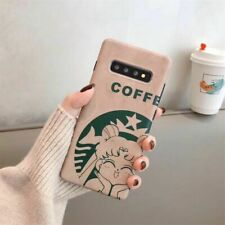 Cute Cartoon Coffee girl soft case Cover for Samsung galaxy Note10+ S20+ S10 S9+