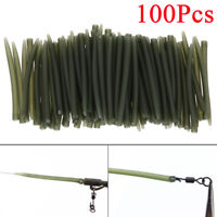 100x Terminal Carp Fishing Anti Tangle Sleeves Connect With Fishing Hook Sleeve