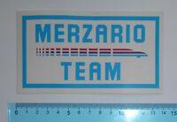 ADESIVO STICKER VINTAGE AUTOCOLLANT MERZARIO TEAM ANNI '80 14x8 cm RARO