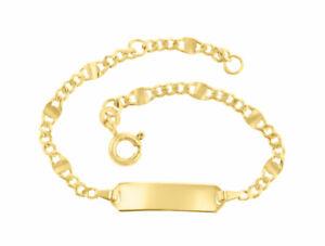 Kinderarmband ID Armband 585 Gold Gelbgold 14cm Gravur Etui u.Versand 5.53665