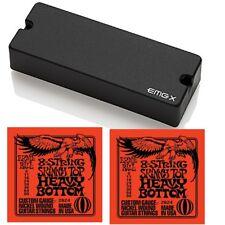 EMG 808X 8-String Active Soapbar Humbucker Pickup Black + 2 Sets Strings 9-80