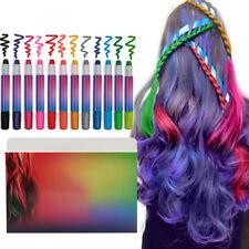 12 Bright Colors Kids Hair Chalk Temporary Hair Dye Colour Pens Kits Party Salon