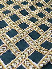Verde TRAMA a cuadros Genuino Retro Estampado 100% Algodón Tela de cortina