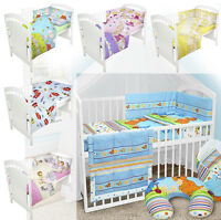 BABY BEDDING SET fit 120x60 COT PILLOW DUVET BUMPER NURSERY MATERNITY 2,3,5,6 pc
