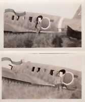 WWII Japanese Aircraft Ki-57 Topsy Transport Japan 1945 2 ORIGINAL Photos