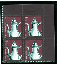 US  3754  Silver Coffeepot 3c - Plate Block of 4 - MNH - 2007 YD - S1111  UR