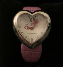 Chronotech Ladies Heart Watch W/Pink Alligator Strap