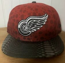 Detroit Red Wings New Era 9fifty Snakeskin Adjustable Strapback hat NEW