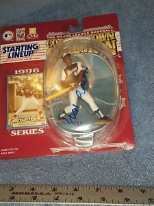 STARTING LINEUP COOPERSTOWN COLLECTION HANK AARON 1996 autographed