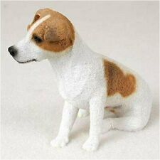 Jack Russell Terrier (Brown White Smooth) Dog Figurine Statue Hand Painted Resin