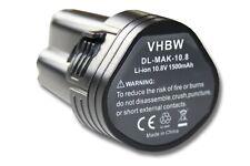 Akku für Makita Baustellenradio BMR102, BMR103 1500mAh 10,8V Li-Ion