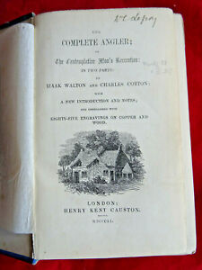 THE COMPLETE ANGLER 1851 EDITION BY IZAAK WALTON