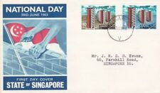 Elizabeth II (1952-Now) Singapore Cover Asian Stamps