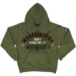 7.62 Design Warfighters Hoodie Casual Mens Jumper Military Outwear Army Green