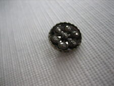 Vintage Small 1/2 Inch Metal Cup Button, 7 Cut Steels Center - M91