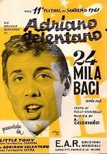 24 MILA BACI A.CELENTANO - LITTLE TONY EDIZ.E.A.R. SPARTITI MUSICALI (TA610)