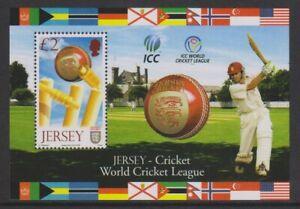 Jersey - 2008, Welt Cricket Liga Division Blatt - MNH - Sg MS1379