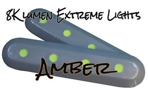 Amber 8K Lumen Marine LED Underwater Hull Light set