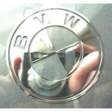 BMW Silver Chrome Sticker 60mm x 60mm Vinyl Metallic Logo Exterior Car Body Part