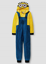 NEW Boys Minion Pajamas size 8 Despicable Me One Piece Blanket Sleeper Costume M
