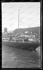 Vintage-Negativ-Panama-Kanal-Canal-Passagier-Dampfer-Schiff-Ship-Bahn-1920s-9