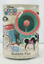 "Disney BUBBLE Machine FAN - Tsum Tsum - Motorized 8"" Kids Hand Held Bubbles 3+"
