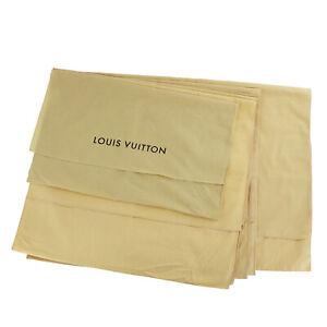 LOUIS VUITTON Dust Bag 6 Set Cream 100% Cotton Italy India Authentic #SS459 Y