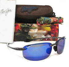 Brand New Maui Jim HOOKIPA Smoke Grey / Blue Hawaii Polarized Sunglasses B407-11