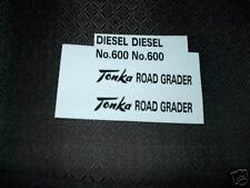 TONKA TRUCK  ROAD GRADER  DIESEL NO.600 DECAL SET