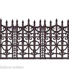 2ft x 30ft Creepy Fence Halloween Horror Scene Setter Border Party Decoration