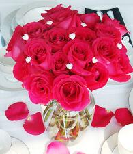 Crystal Heart Wedding Bouquet Jewelry Picks – Set of 6