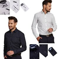 NEW MENS STYLISH LONG SLEEVE LUXURY SHIRTS CASUAL COTTON FORMAL SLIM FIT SHIRT