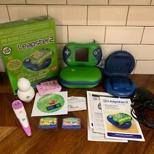 Leapster 2 Bundle. 2 Games, Chargers, Battery Packs, Tag Pen, Tag Jr And More.