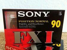 Unbenutzt! 1x SONY FX I 90 POSITION NORMAL Leerkassette !!!
