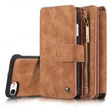 Removable Leather Wallet Case Flip Cover Purse For iPhone 6 6S Plus 7 8 Plus UK