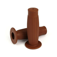 Gripster 7/8   Handle Bar Grips Flanged Chocolate Brown vintage retro custom old