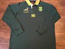2011 2013 South Africa L/s Springboks Rugby Union Shirt Adults 2XL XXL Jersey