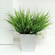 NT Artificial Fake Plastic Green Grass Plant Flowers Office Home Garden Decor