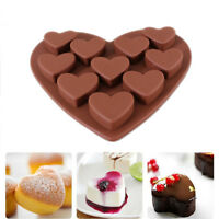 Love Heart Shaped Silicone Chocolate Cake Molds Fondant Kitchen Baking Mold Tool