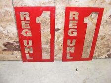 VINTAGE REG UNL  GAS PUMP / GAS STATION  / RED  / SIGN PLEXIGLASS