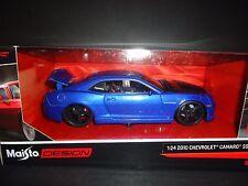 Maisto Chevrolet Camaro RS SS 2010 Blue with Black hood 1/24
