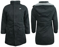 Nike Active Girls Juniors Hooded Winter Coat Zip Up Jacket Charcoal 235949 010 A