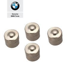 4x Genuine BMW Stainless Steel Valve Stem Cap with Seal