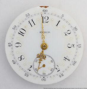 Antique Fancy Dial Elgin 16s 15J Hunter Pocket Watch Movement