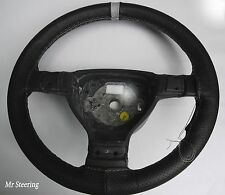 FITS AUDI A4 B5 B6 1994-2005 PERFORATED LEATHER STEERING WHEEL COVER+ GREY STRAP