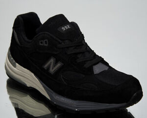 New Balance 992 Made In USA Men's Black Grey Lifestyle Shoes Casual Sneakers