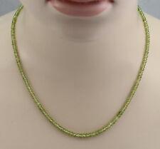 Sphenkette - grüne facettierte Titanit Halskette in 48 cm Länge