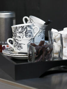 Gien Tulipes Noires Kaffeetassen Teetassen
