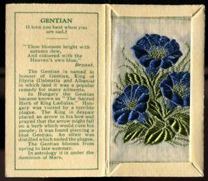 Kensitas Woven Silk Flowers, 1934, Small, 1st Series, Folder Type C, GENTIAN,#17