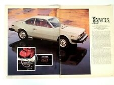 1977 Lancia Beta Coupe Vintage Print Ad Article Story